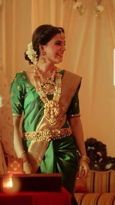 Southern Look To Love :- AwesomeLifestyleFashi Indian Wedding Jewelry, Indian Bridal, Indian Jewelry, Bridal Jewelry, Indian Silk Sarees, Indian Gowns, Hindu Bride, Saree Wedding, Telugu Wedding