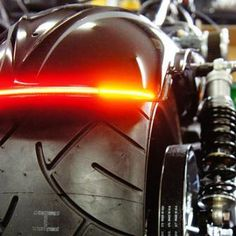 Z-Flex custom taillight with built in turns all in one tube. A new twist on a strip light. Easy peel and stick installation. There is a all red LED option or Amber turns option. There are 3 tube color to choose from smoke, red or clear.
