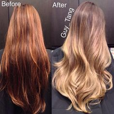 Make-over balayage ombre