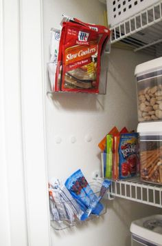 In the pantry...So smart saves valuable shelf space
