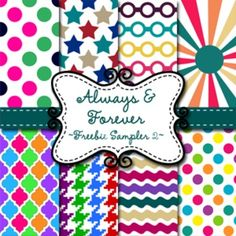 """Digital Paper Product Description: Zip file containing 8 digital scrapbook pages in 12"""" x 12"""" png format.  All images are in 300 dpi resolution.  Digital Paper is great for digital scrapbooking as well as for use as backgrounds to your teaching products!"""