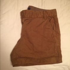J crew tan shorts Barely worn J crew chino shorts J. Crew Shorts Cargos