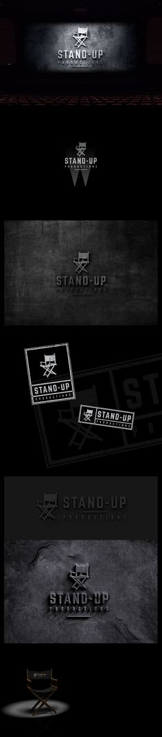 Movie, cinema, stand-up comedy logo design proposal. Stand Up Comedy, Proposal, Logo Design, Cinema, Movies, Movie Posters, Films, Film Poster, Film