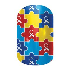 #Autism Awareness nail wraps by Jamberry Nails. Jamberry donates a portion of their proceeds to the Autism Society.