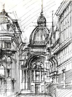 s a m s a r a roxana cotar perspective studies 2008 wallpaper architecturearchitecture sketchesbuilding
