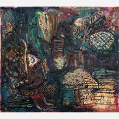 Adriana Varejão<br> O Dilúvio. Óleo sobre tela. <br>150 x 170 cm