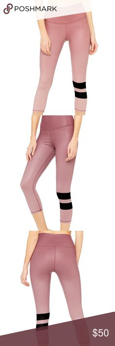 $88 alo yoga airbrush high waist capris large nwt NWT airbrush gradient granache size large.  High waist capris.  Really pretty and comfortable with the high waist band.  Open to trades and offers.  Save a few $$ on eBay.  If you have a medium and need a large and are looking to trade let me know ALO Yoga Pants Leggings