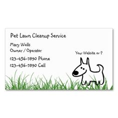 Dog Lawn Cleanup Business Cards. Make your own business card with this great design. All you need is to add your info to this template. Click the image to try it out!