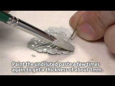 Make silver leaf pendants with PMC Paste - pendente a forma di foglia in pasta d'argento a casa