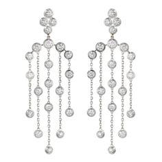 """Cartier, boucles d'oreilles longues """"diamants légers"""""""