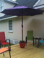 $20 DIY patio umbrella stand