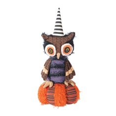 This owl is a hoot as it turns around and dances to music. Great to use as a door hanger!