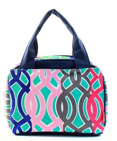 Monogrammed Lunch Bag Multicolor Vine by DoubleBMonograms on Etsy