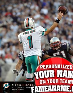 COM - Personalized NFL ACTION PLAYER PRINTS - Officially Lic Product - Your  Name 04e0b0174