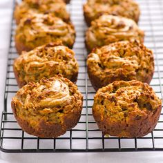 Banana and Peanut Butter Swirl  Muffins - loving the idea, but protein powder? Gross!