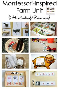 Hundreds of resources both activities and materials for a Montessori-inspired farm unit for a variety of ages; perfect for home or classroom - Living Montessori Now Montessori Homeschool, Montessori Practical Life, Preschool Curriculum, Preschool Themes, Montessori Toddler, Homeschooling, September Preschool, Preschool Prep, Montessori Bedroom