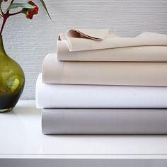 400-Thread-Count Organic Cotton Percale Sheet Set #westelm