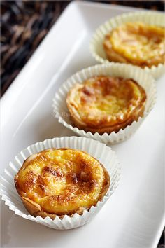 Portuguese egg tarts recipe (link on page 2)  I made these today and they taste delicious. Kind of like french toast.