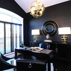 Charming Contemporary Home Office Photos Male Office Design, Pictures, Remodel, Decor  And Ideas