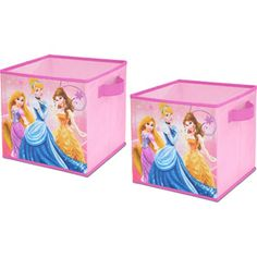 Disney Princess Storage Cubes, Set of 2