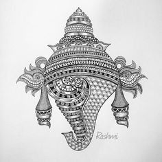 Pinkz Passion : Rashmi Krishnappa - An Inspiring Artist Doodle Art Drawing, Mandala Drawing, Art Drawings, Outline Drawings, Art Sketches, Kalamkari Painting, Madhubani Painting, Mandala Art Lesson, Mandala Artwork