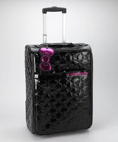 Take a look at this Black Embossed Hello Kitty Suitcase by Loungefly: Hello Kitty on #zulily today!