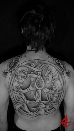 Norse tattoo by Colin Dale