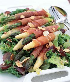 Asparagus Wrapped in Serrano Ham