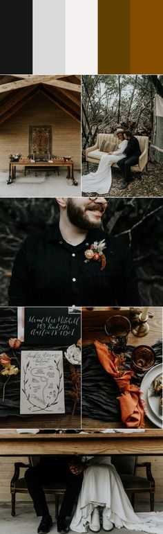 Five Stylish Fall Wedding Color Palettes Wedding Blog, Wedding Ideas, Wedding Decor, Dream Wedding, Fall Bridesmaid Dresses, Winter Bride, Stylish Couple, Fall Wedding Invitations, Fall Wedding Colors