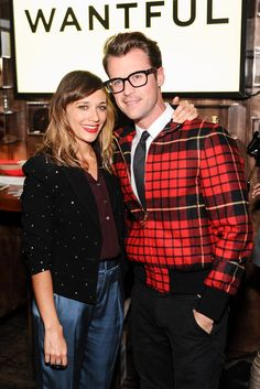 Rashida Jones in a Vena Cava jacket with Brad Goreski at the Wantful Dinner in L.A.