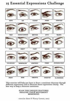 Drawing facial expressions