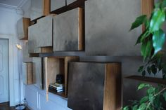 Floating Block Square Bookcase