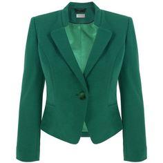 Green Ponteroma Jacket ❤ liked on Polyvore
