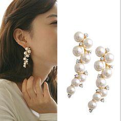Ahmed Jewelry Star Pear Long Drop Earrings For Women Alloy Fine Fashion Earring Star Hot Gift E143