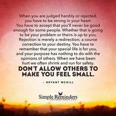 Rejection means redirection.