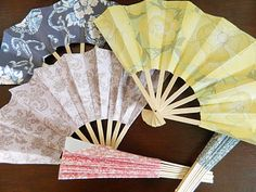 Paper Pendulum: Paper Fans. These would come in REALLY useful on dance nights in Arizona.