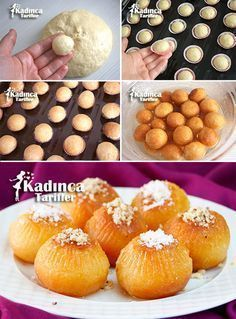 Baba Dessert Recipe, How To? - Womanly Recipes, Baba Dessert Recipe, How To? Sweet Recipes, Cake Recipes, Dessert Recipes, Mousse Au Chocolat Torte, Turkish Sweets, Middle Eastern Desserts, Ramadan Recipes, Turkish Recipes, Beignets