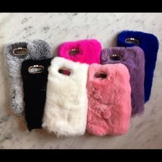 🐰Rabbit Fur case for iPhone 7, iPhone 6/6s Plus, iPhone 7 plus. Have seven color to choose: Black, White, Grey, Blue, Pink, Hot Pink and Violet. Very soft and Super cute!!! Good for Christmas Gift!!! Only $15each I can give discount to Bundle!! Please, comment for color you want and size of your iPhone, when you order. Thank you 😘💕