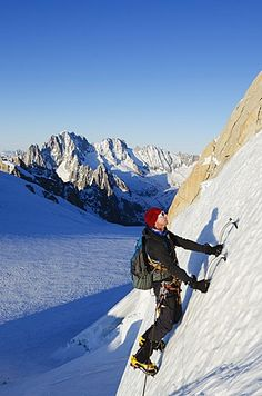 Ice climbing is very difficult and dangerous because of the extreme conditions a climber is faced with.