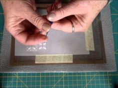 ▶ PARCHMENT CRAFT EMBOSSING, PERFORATING ON GRIDS BY EWA MARIA PIECHOTA - YouTube