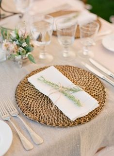Natural Wedding Chargers, Wicca woven charger.  Charger Plates can make or break a decorated table!   I have a wide variety of charger plates, you can view more inspiration and my stock at www.facebook.com/labolaweddings