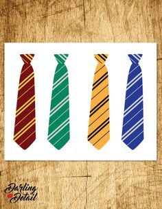 Printable Harry Potter Ties!  Each tie measures approximately 9.75 x 2.25. You…