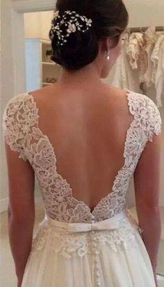 #lace wedding Dresses #backless wedding Dresses #bridal gown #elegant wedding dresses #bridal gown