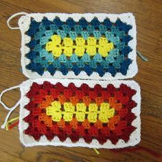 Granny Square Sampler Afghan - Week 14 by katbaro, via Flickr