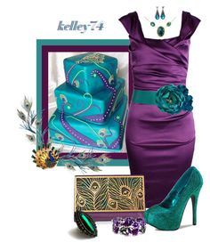 """Peacock Cake"" by kelley74 ❤ liked on Polyvore featuring Quba, Raven Kauffman, Gurhan and Pier 1 Imports"