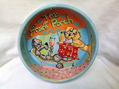 Poodle 10 Dog Bowl for Food or Water Personalized at no Charge Signed by Artist Debby Carman * You can find more details by visiting the image link.