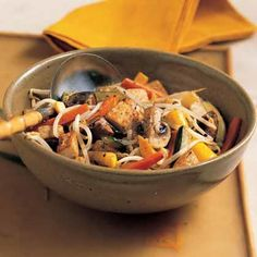 Unlike traditional stir-fry dishes, this one uses white wine to bring out the flavors of the vegetables. The mushrooms, carrots and...
