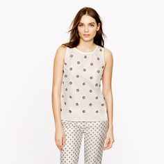 Collection embellished poplin shell - AllProducts - nullsale - J.Crew