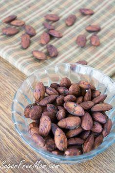 Toasted Tamari Almonds/ sugarfreemom.com A great way to curb salt cravings!