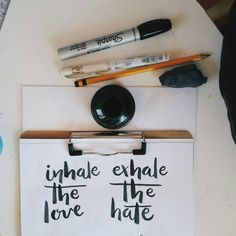 Inhale the love x Exhale the hate | Sophia Louisse